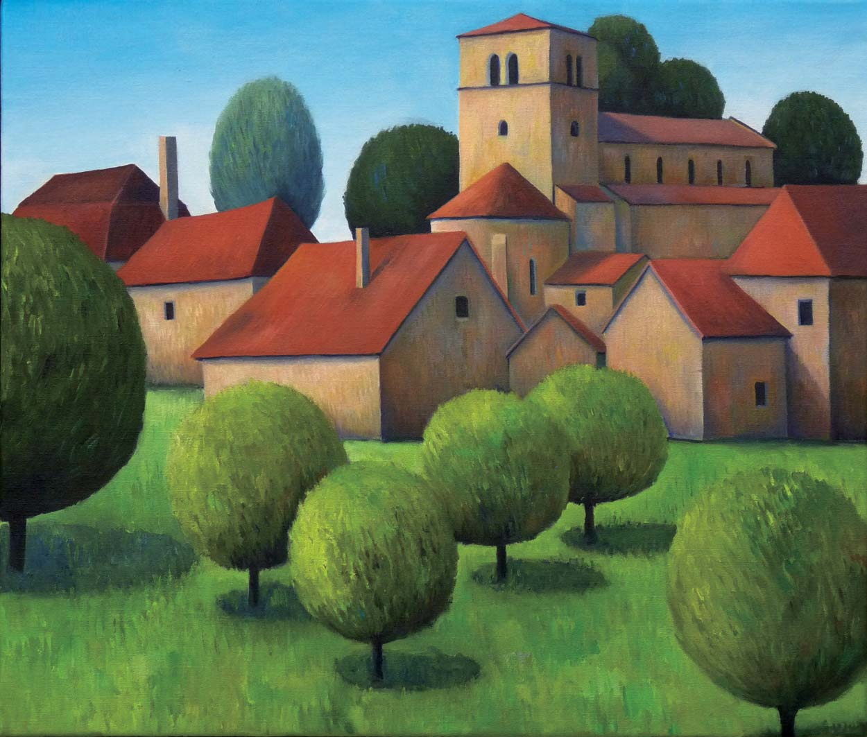 View of Briant, oil on canvas, private collection