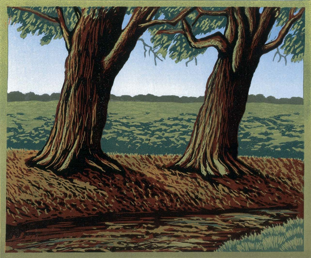 Two Trees, 20x24, ed: 15, £175