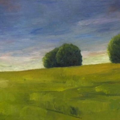 Clouds over West-Knoyle, oil on canvas, private collection