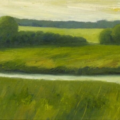 Confluence, oil on canvas, private collection