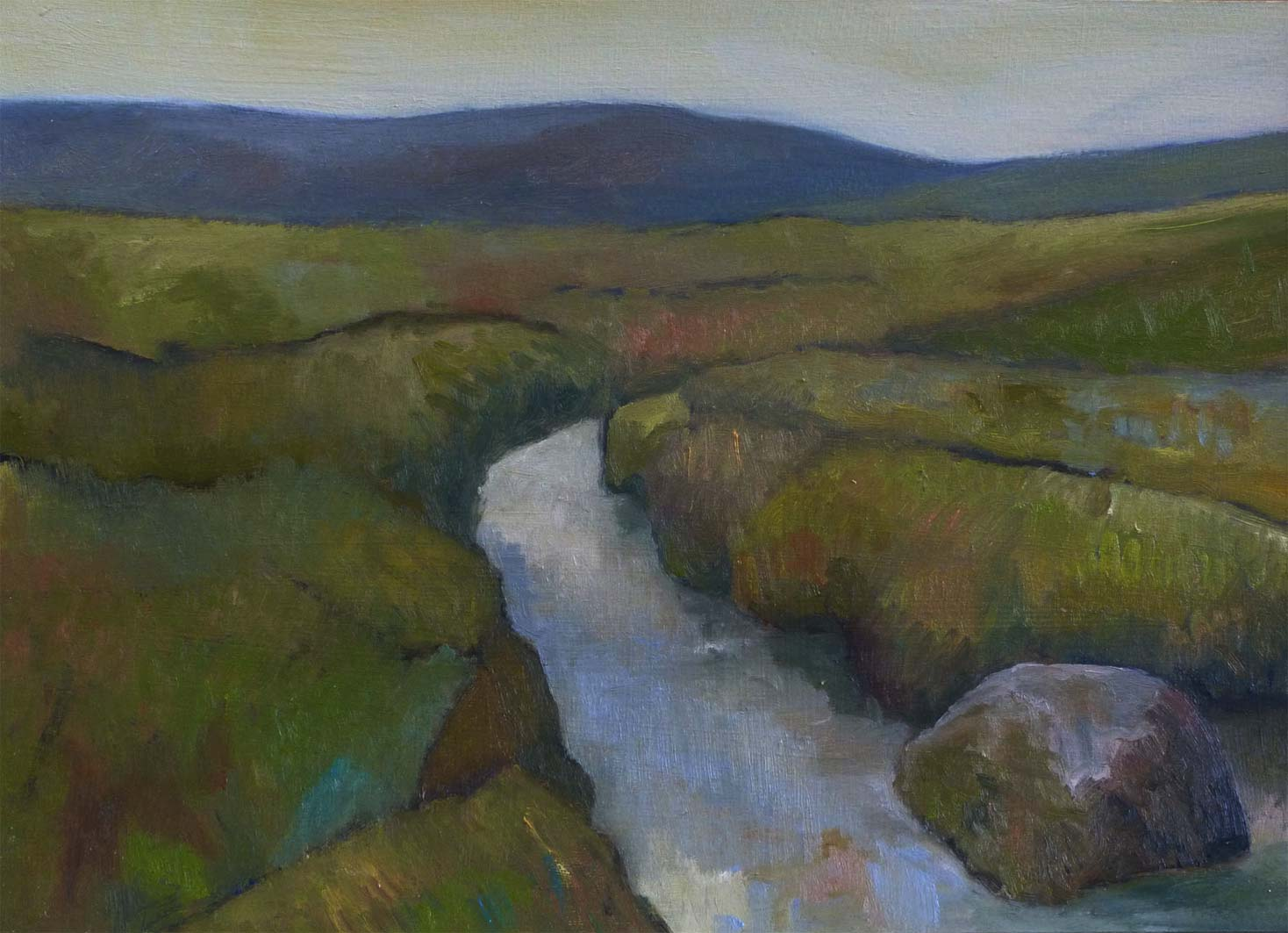 Dartmoor Landscape, oil on paper, private collection