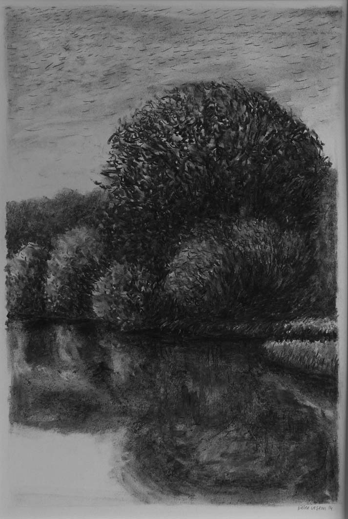 View of Ferry Farm, pencil, private collection
