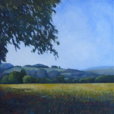 Looking towards Bere Alston, oil on canvas, private collection