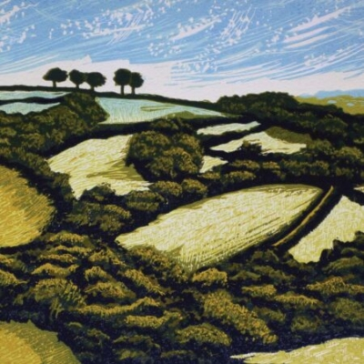 Tamar Valley Hill and Sky, 22x29cm, no longer available