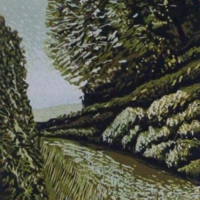 Cornish Lane, 17.5x13.5cm, ed:22, £100