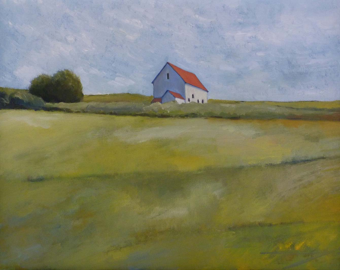 House in Fields, oil on canvas, private collection