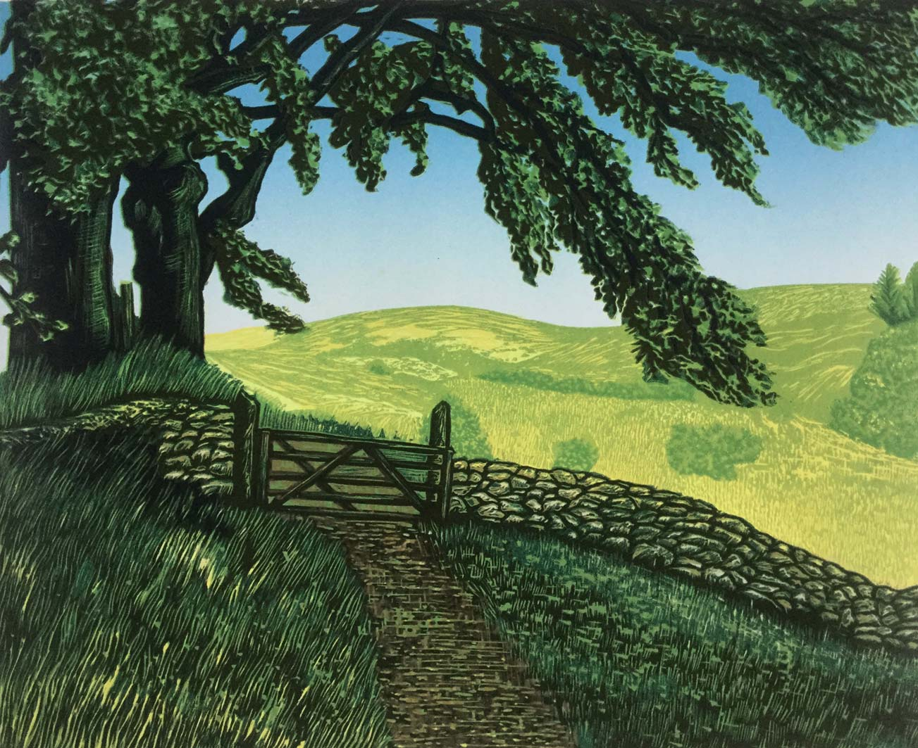 Dartmoor Lines 3, 31x38cm, edition 10, 295