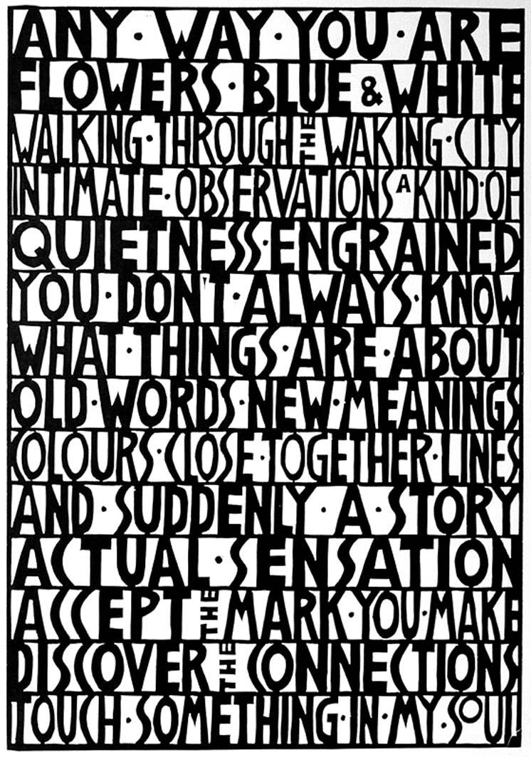 Any Way You Are, Lino Print, 60x40cm, ed: 25