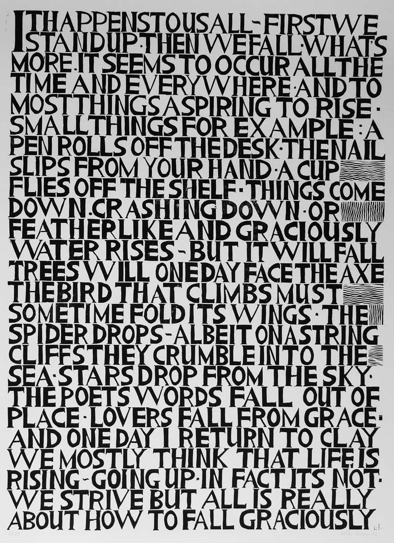 Falling, lino print, 60x40cm, edition: 25