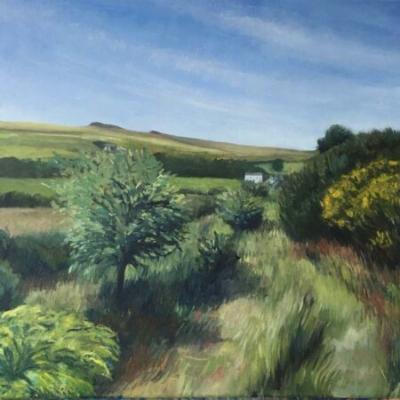 Near the Dartmoor Inn at Merivale, oil on canvas, 50x60cm