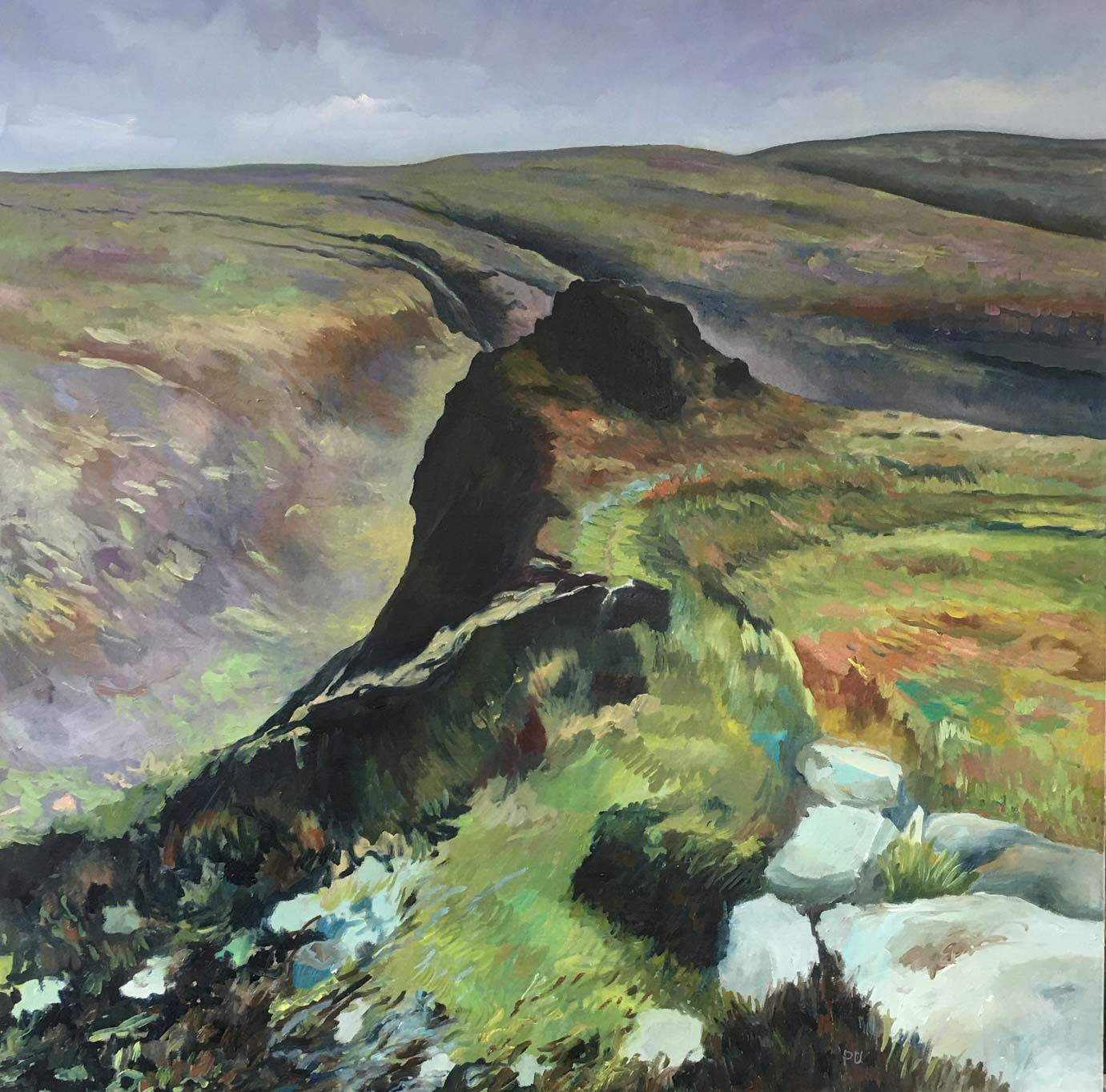 Dartmoor,Tavy-Cleave, oil on canvas, 80x80cm, £950